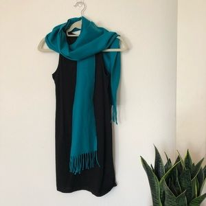 100% Cashmere Turquoise Blue Scarf